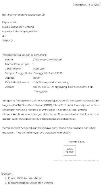 Contoh Surat Pengunduran Diri Ketua Rt Detil Gambar Online