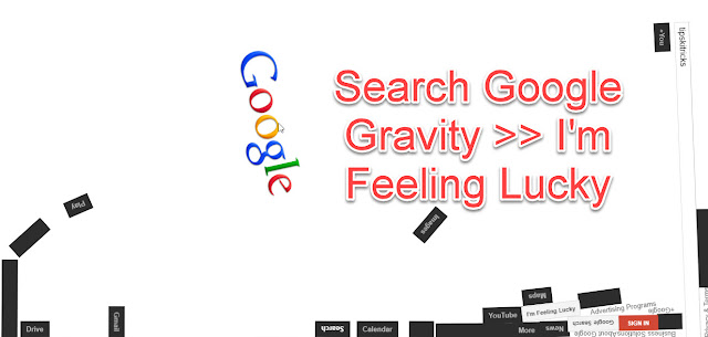 Google Gravity Google Tricks