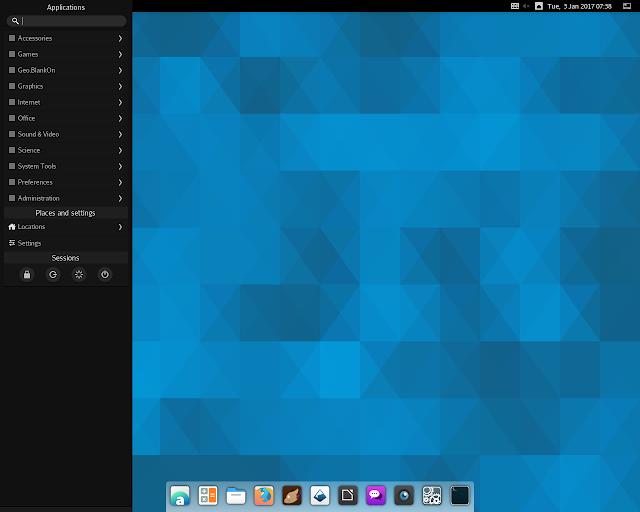 BlankOn Linux 10.0 em execução