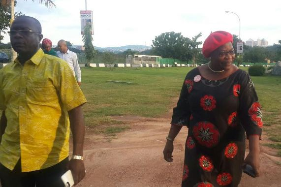 Photos: Oby Ezekwesili and her hubby at the BBOG sit out today