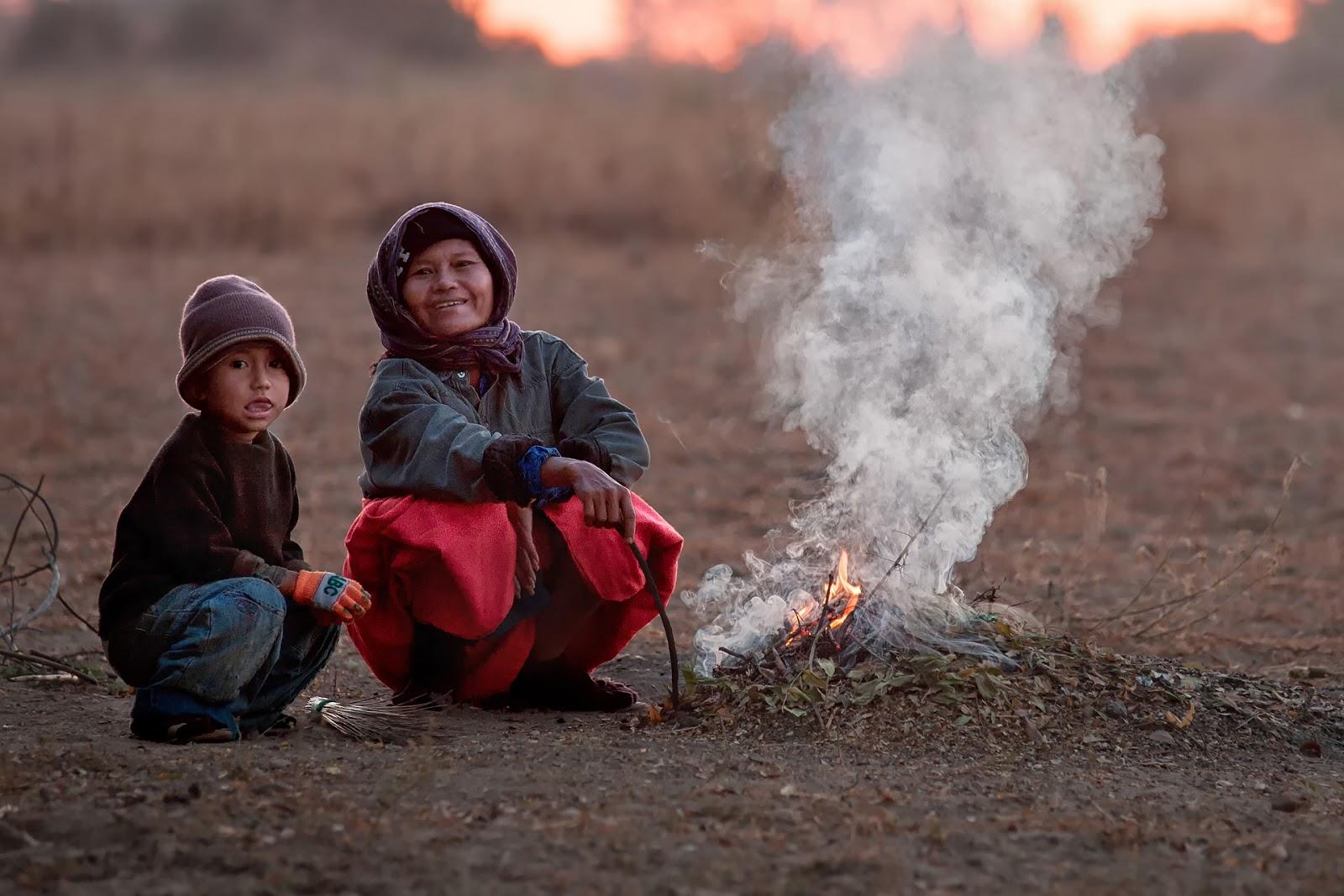 ludzie,kobieta,chlopiec,ognisko,bagan,birma
