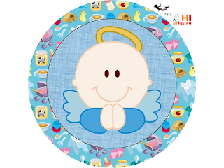 Angel Boy Toppers or Free Printable Candy Bar Labels.