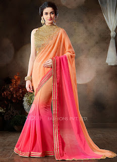 Pure-indian-chiffon-sarees-with-blouse-for-summer-for-girls-4