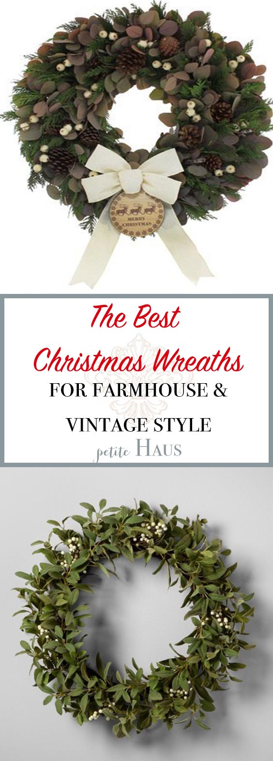 the best christmas wreaths for vintage and farmhouse style decor