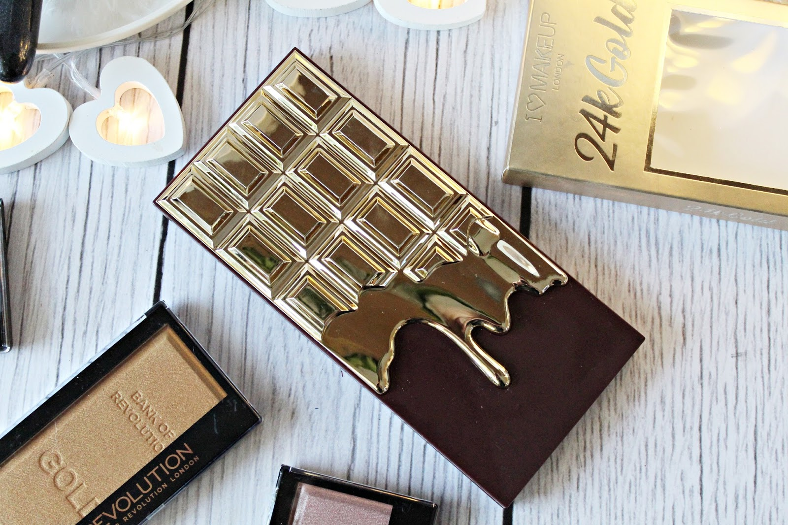 NOWOŚĆ! I HEART CHOCOLATE - 24K GOLD - Paleta cieni - Makeup Revolution