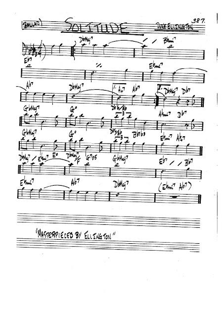 Partitura Bajo Duke Ellington