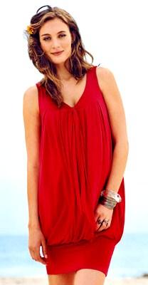 Foto de mujer con vestido de maternidad para verano - lindo diseño para mujer embarazada