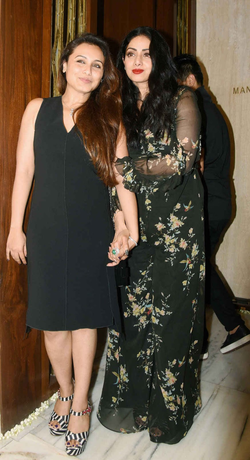Aishwarya Rai Bachchan and Rani Mukerji at Sridevi's Birthday Celebration