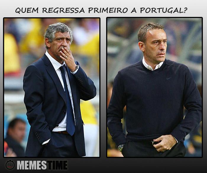 Meme Paulo Bento & Fernando Santos – Quem regressa primeiro a Portugal?