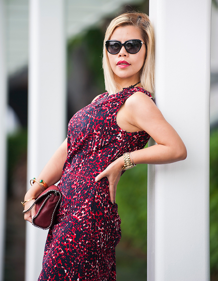 Singapore Best Fashion Blog finalist Crystal Phuong in Thakoon dress, Stella McCartney bag and Alexander McQueen sunnies