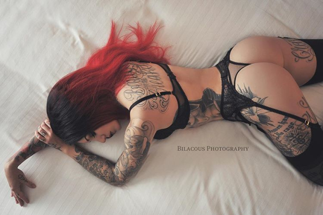 Cervena Fox a lovely day tattooing