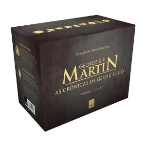 Box As Crônicas De Gelo e Fogo Pocket 5 Volumes Com Marcador De Página