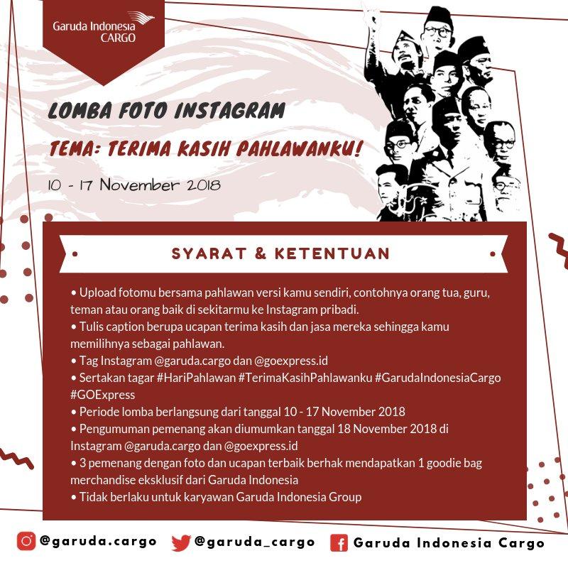 "GarudaIndonesia - Promo Lomba Foto ""Terimakasih Pahlawanku"" (s.d 17 Nov 2018)"