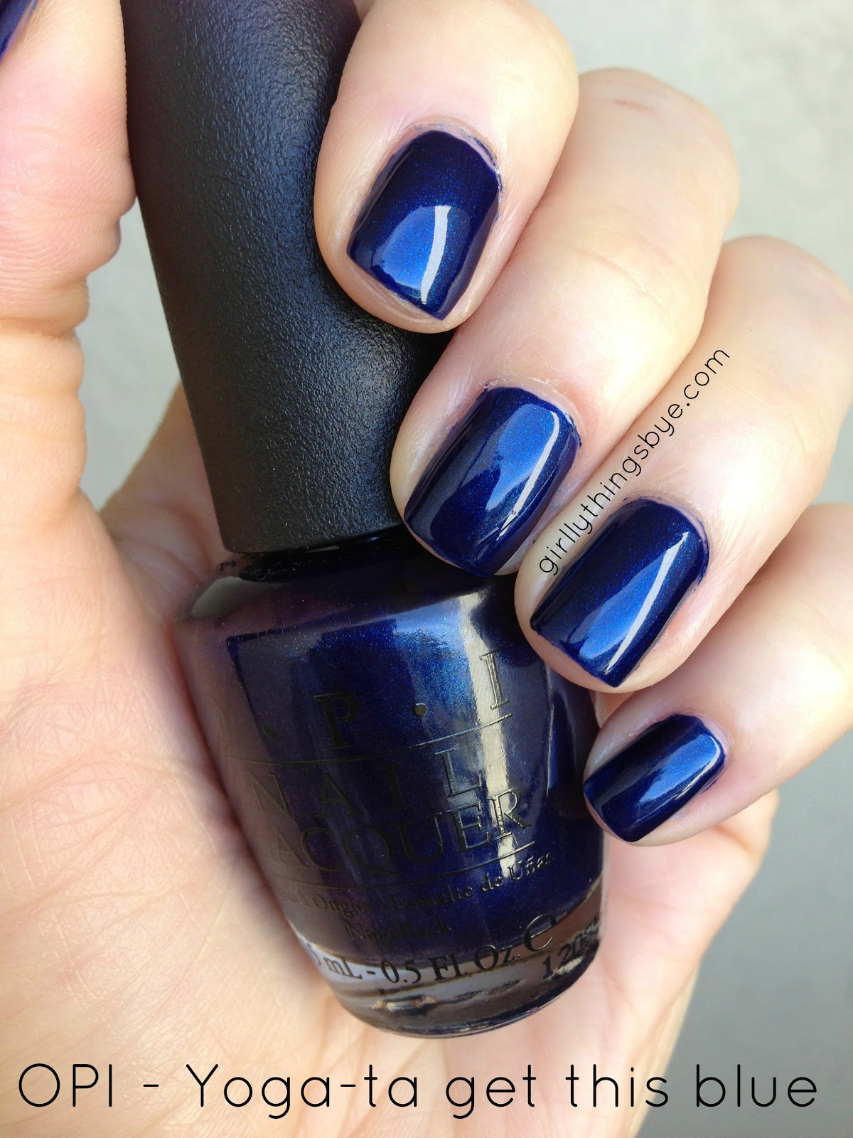 Manicure Monday Yoga Ta Get This Blue Girlythingsby E Beauty Chit Chat