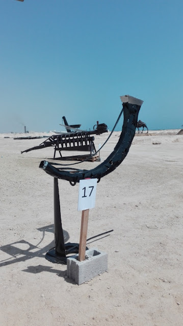 Scrap metal transformed into art in Duqm