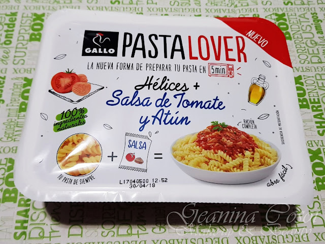 Hélices con tomate y atun de Gallo Caja Degustabox - Febrero ´18