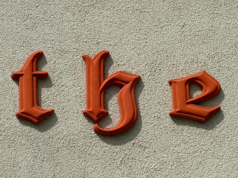 """""""the"""" in altdeutscher Schrift"""