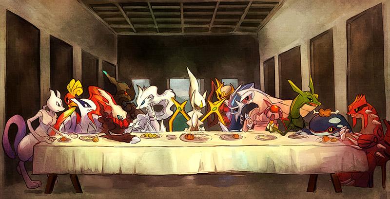 The Last Supper (Pokemon Version) by Kabocha Tarute
