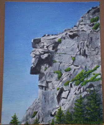 Old Man of the Mountain 8x10 Painting