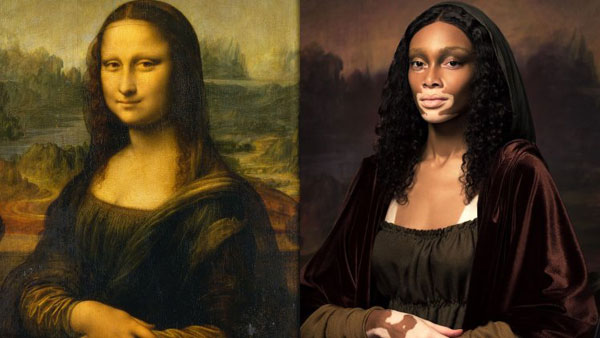 Winnie Harlow se Transforma en La Mona Lisa