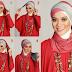 Kumpulan Gambar Tutorial Cara Memakai Hijab Segi Empat