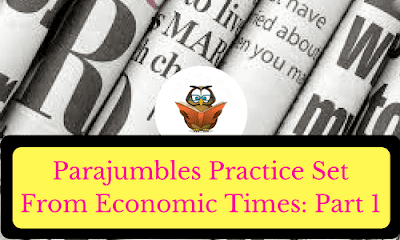 Parajumbles Practice Set From Economic Times: Part 1