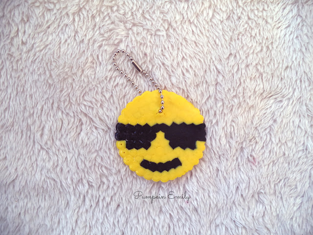 DIY Emoji Key Chain Made Out of Perler Beads