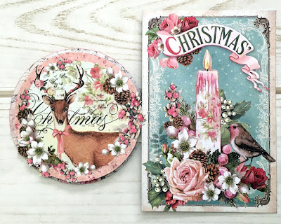 Christmas Card Tutorial Stamperia Pink Christmas