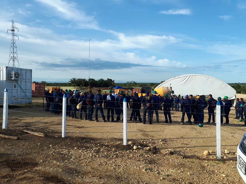 Comunidades y trabajadores afiliados a la uso,  protestan contra canacol energy por incumplimiento de acuerdos