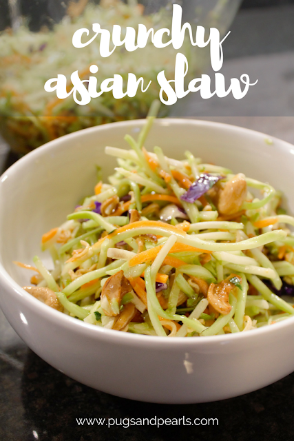 Crunchy Asian Slaw Recipe // Pugs & Pearls Blog