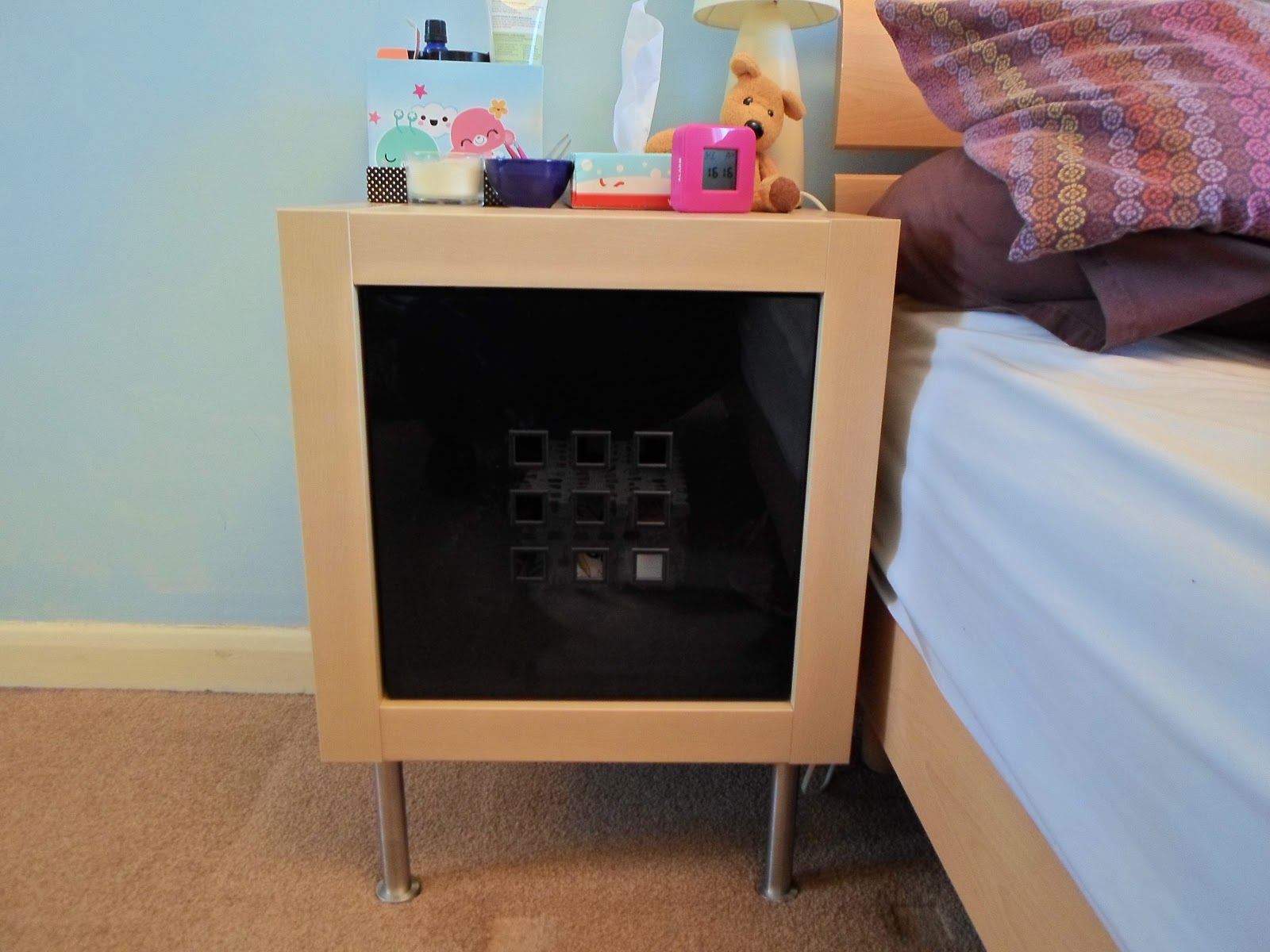 Ikea hack expedit bedside table sugarpuffish ikea hack expedit bedside table watchthetrailerfo