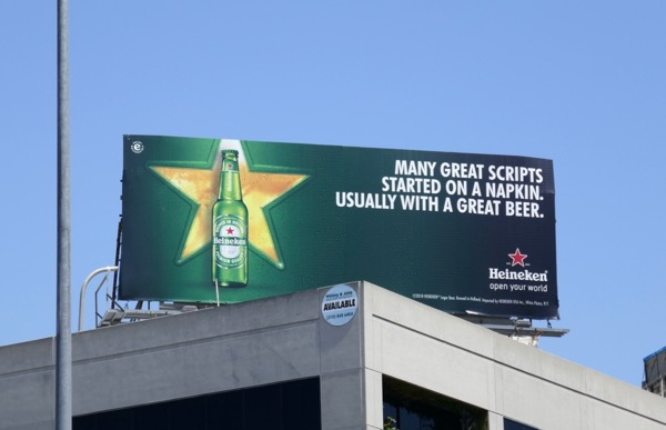 Heineken great scripts napkin billboard