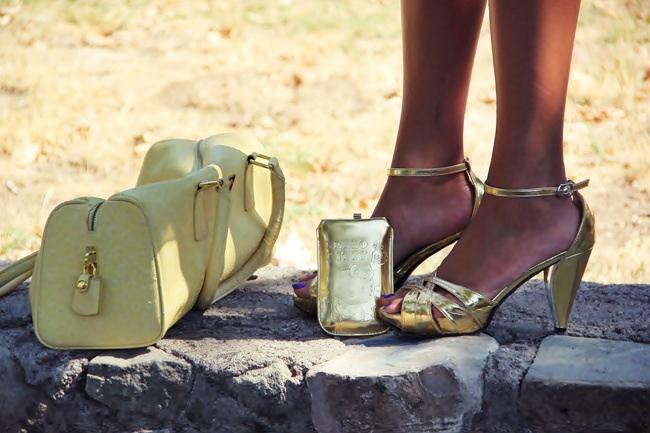 gold platform sandals zlatne sandale