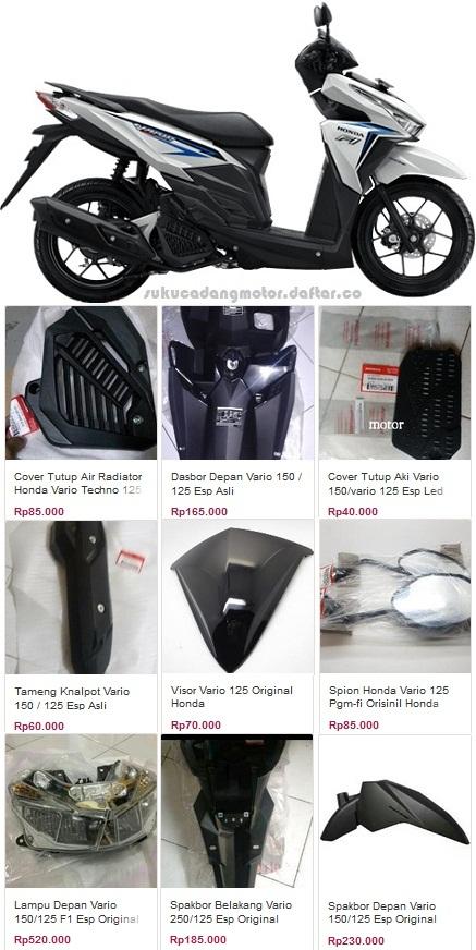 Daftar Harga Sparepart Honda Vario 125 PGM Fi