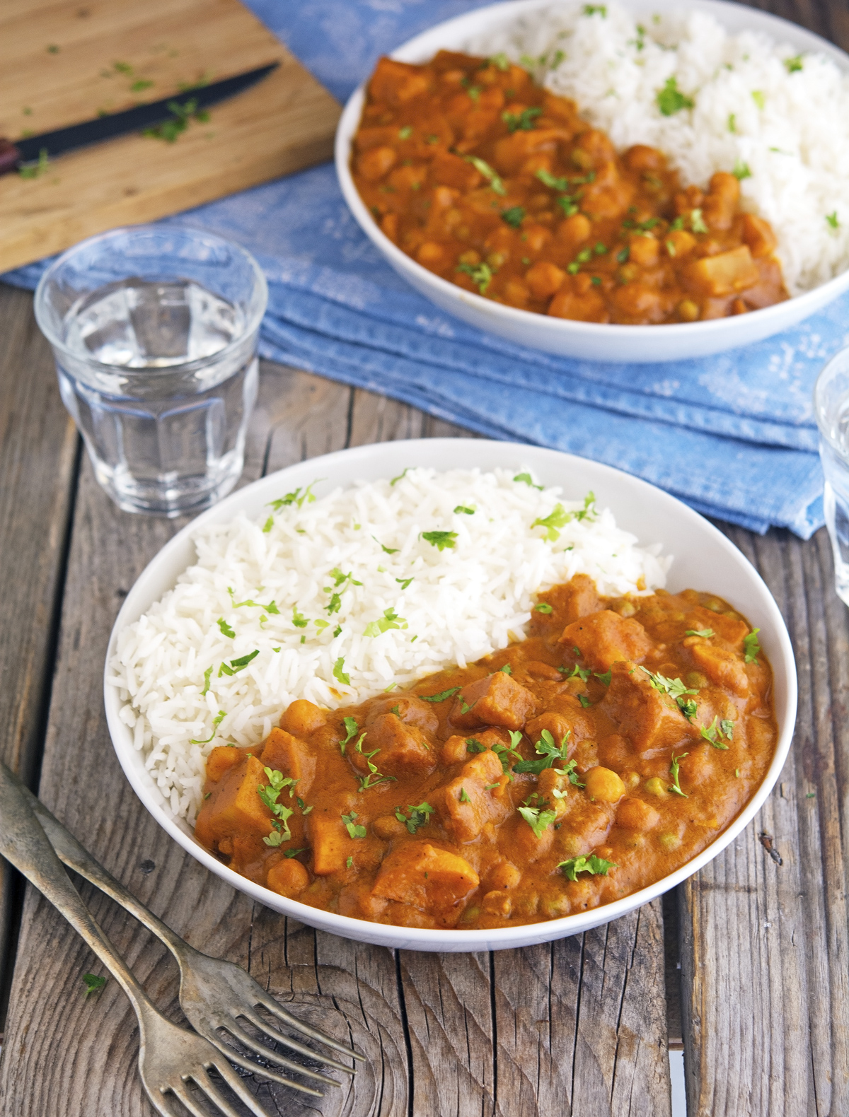 (Vegan) Easy Healthier Sweet Potato Tikka Masala