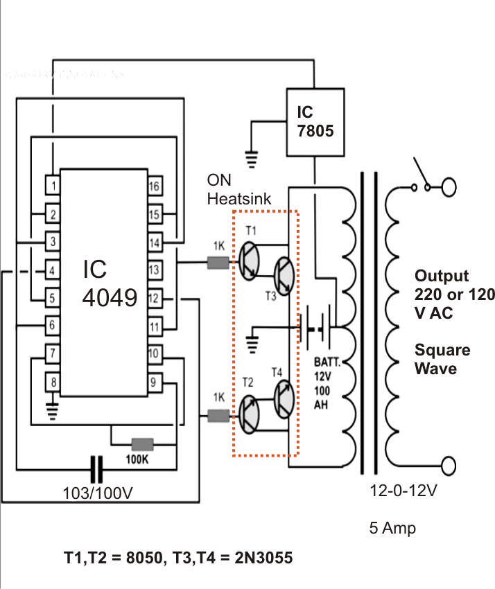 simple inverter circuit electronic design