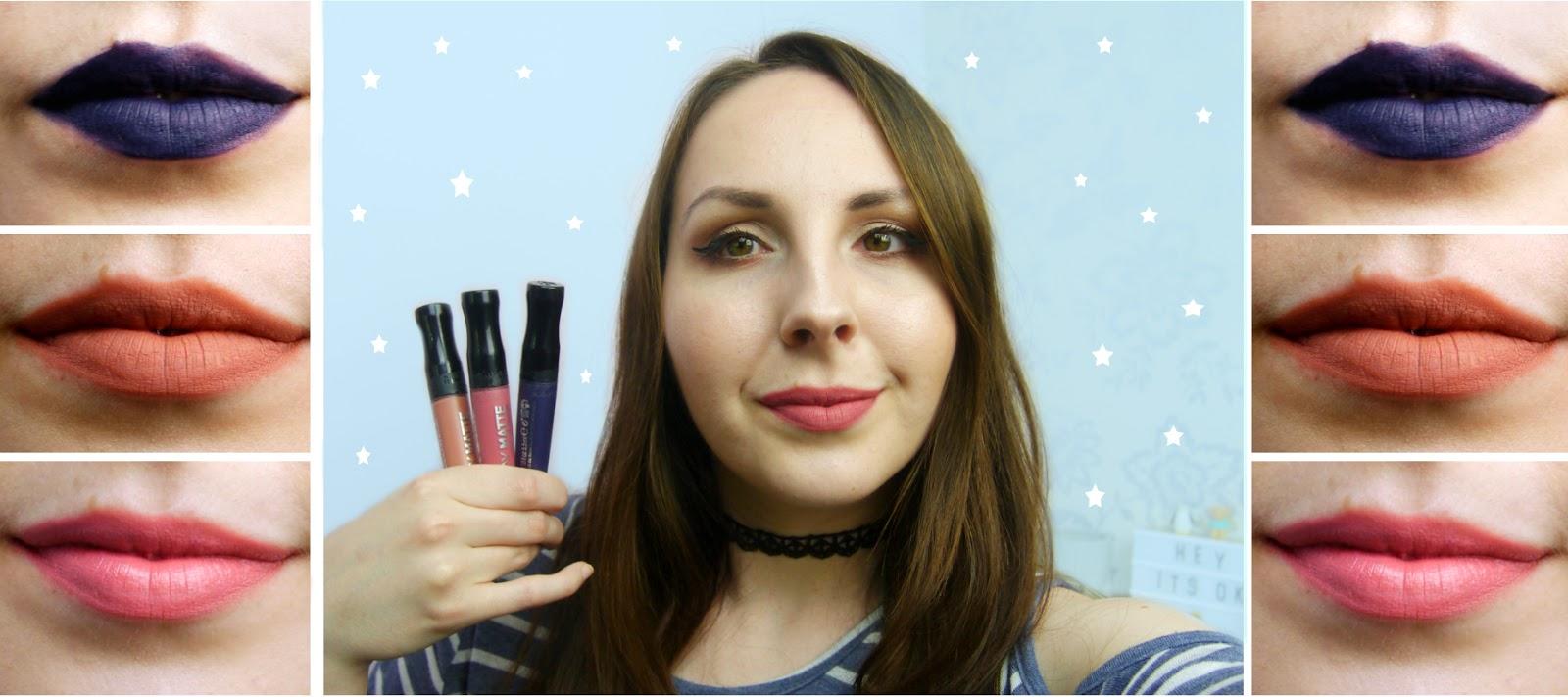 Rimmel Stay Matte Liquid Lipsticks First Impressions
