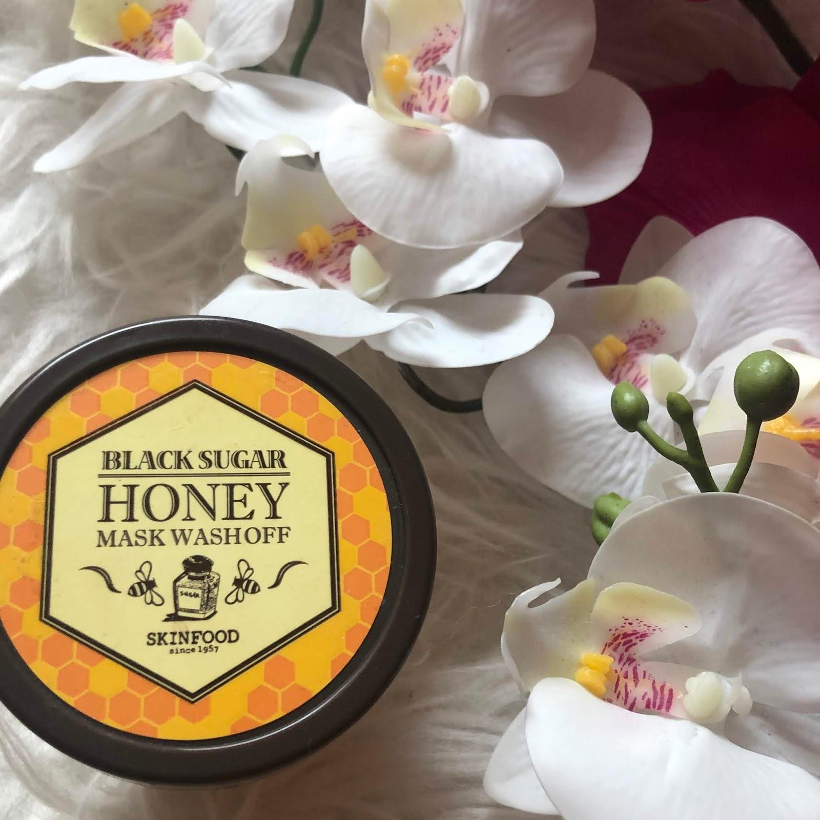 SkinFood Black Sugar Honey Mask Wash Off Peeling Maska złuszczająca