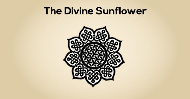 The Divine Sunflower Celtic Knot Symbol.