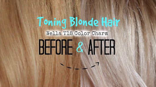 Toning Blonde Hair to Lightest Ash Blonde | Wella T18 Colour Charm