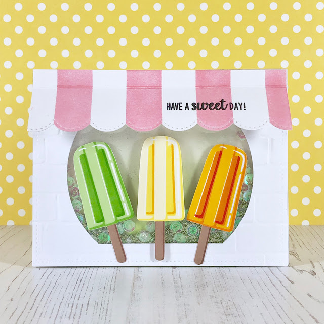 Sunny Studio Stamps: Perfect Popsicles Customer Card by Tina Krauer