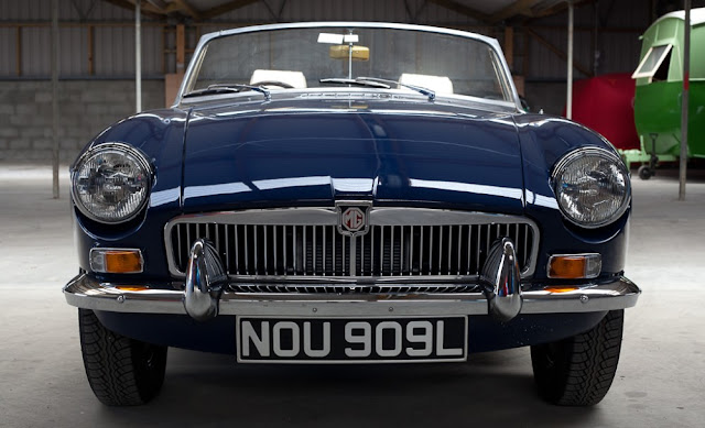 MGB 1960s British classic sports car