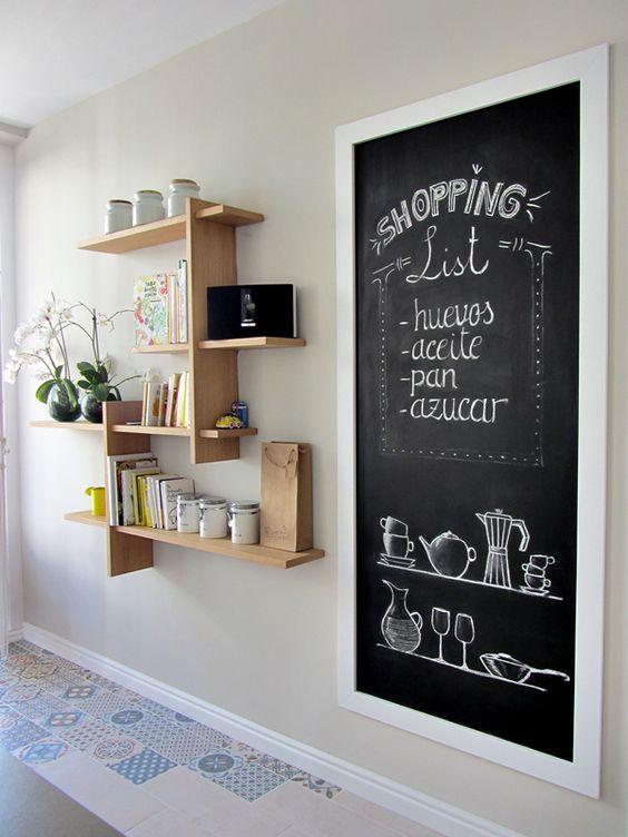 Hogar diez 25 ideas para dar vida a tus paredes - Pizarras de cocina ...