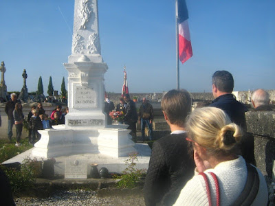The Liberation Day Ceremony at the village war memorial