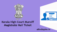 Kerala High Court Munsiff Magistrate Hall Ticket
