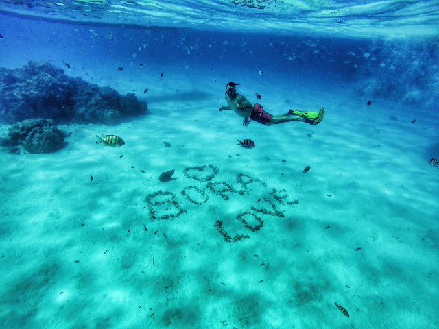 Bora Bora Love Sign