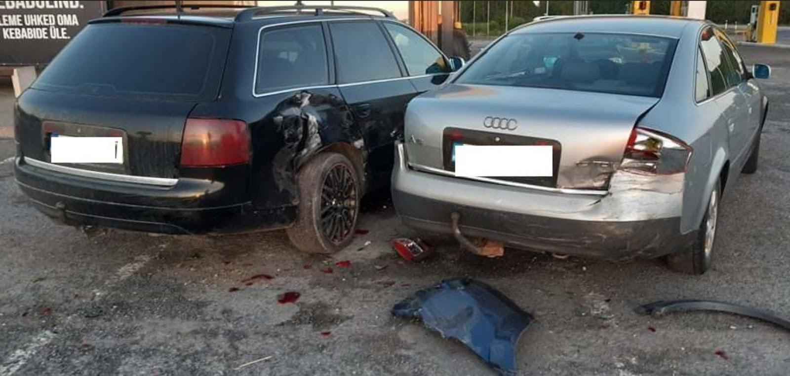 Sadauzītās avārijā mašīnas