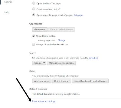 reset chrome browser tab