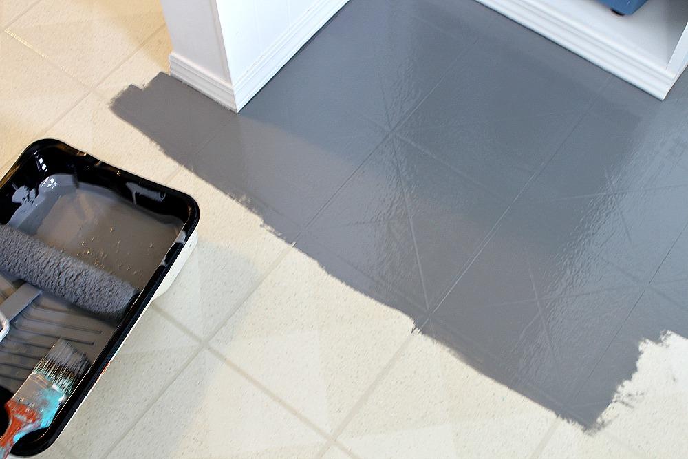 How To Paint A Vinyl Floor Diy Painted Floors Dans Le