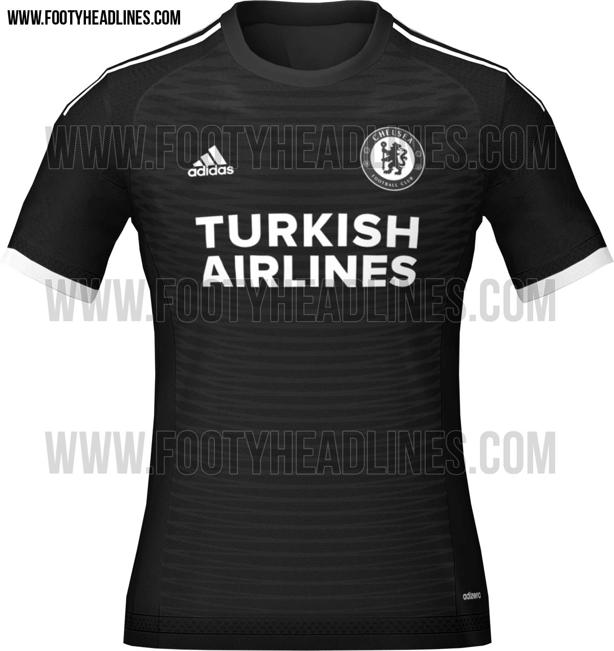 4a3afe5ae13 The new black Chelsea 2015-16 Third Kit is black with contrasting white  logos. On the front of the new Adidas Chelsea 15-16 Third Soccer Jersey is  a special ...